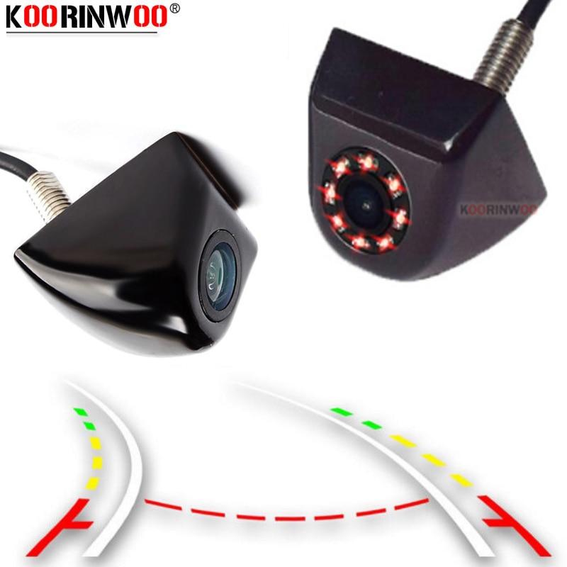 Камера заднего вида Koorinwoo, для Sony CCD, с динамической траекторией, Автомобильная камера заднего вида, 8 инфракрасных ламп, черный металлически...