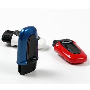 Image 2 - Abs um botão iniciar passivo keyless enter caso capa chave do carro para porsche macan cayenne panamera estilo de substituição acessórios