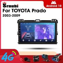 2 Din Android 10 Автомобильный плеер, стерео аудио радио для Toyota Prado 2003-2009 мультимедийный видео сенсорный экран 4G Wifi динамик MP5 DVD