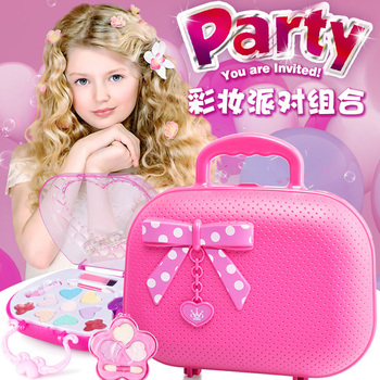 Kids Makeup Toys Kit for Girl Washable Non Toxic Princess Cosmetic Set with a Carrying Case Pretend Play Toy Set for Little Girl bellylady kids girl makeup set eco friendly cosmetic pretend play kit princess toy gift