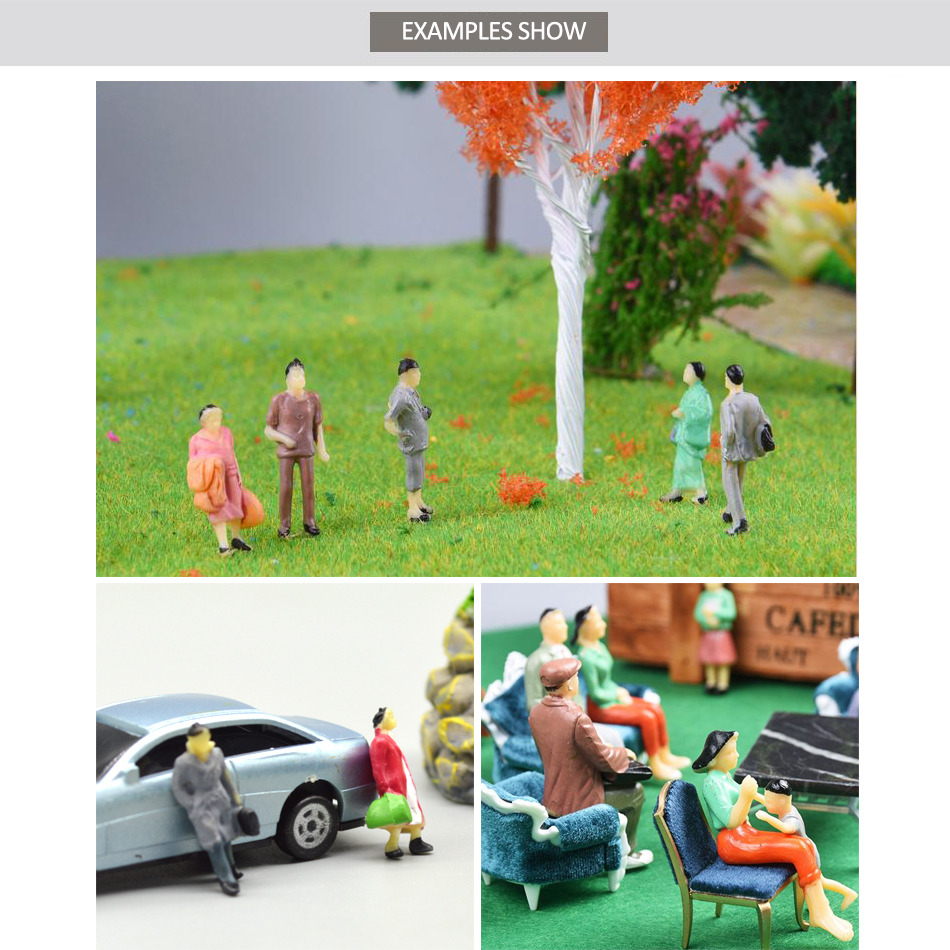 HO Scael Model Color Figure 100pcs Color Miniature People For Diorama Garden Scenery Making 1:87 Tiny Figure