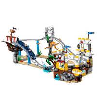 Los creadores de Builerds conjunto pirata Montaña Rusa 3 en 1 Compatible con la ciudad de Legoinglys creador 31084 edificio educativo juguete regalos