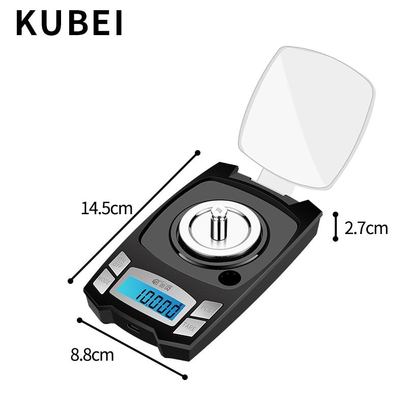 KUBEI précision balance électronique 0.001g haute précision bijoux échelle or bijoux Instrument de pesage électronique Digita balance - 5