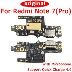 Oryginalna płyta portu ładowania dla Xiaomi Redmi Note 7 Pro części zamienne płyta ładowania USB dla Redmi Note 7 złącze dokowania Flex Cable