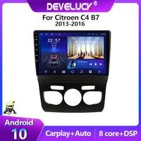 Lettore Video multimediale per autoradio Android 10.0 2 Din per Citroen C4 2 B7 2013 2014 2015 2016 navigazione GPS DSP 48EQ 4G 6G 128G