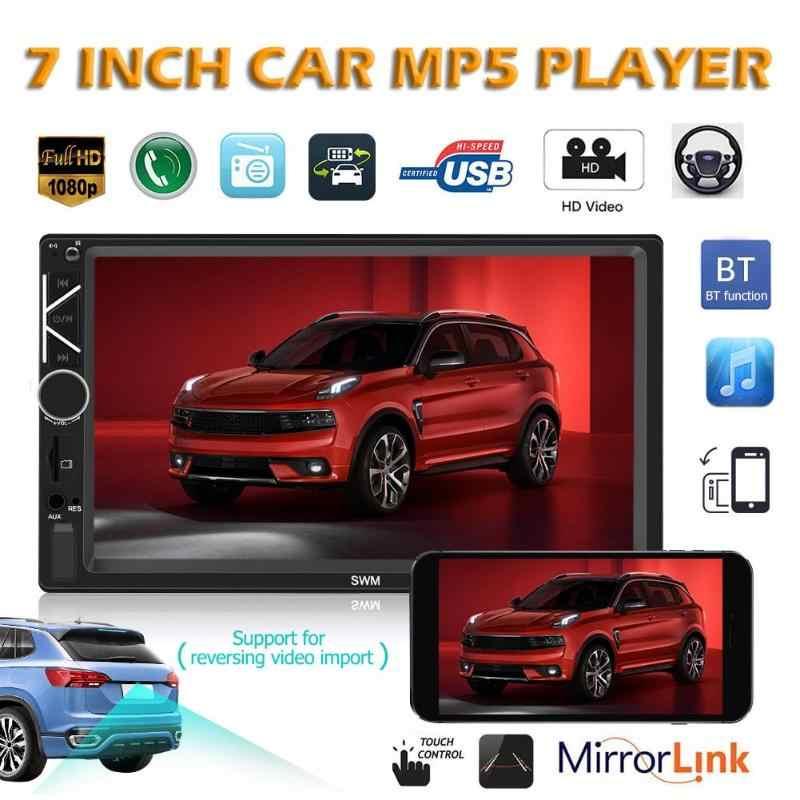 A6 7 pouces 2 Din écran tactile voiture In-Dash stéréo Audio FM Radio Bluetooth miroir lien unité de tête MP5 lecteur multimédia