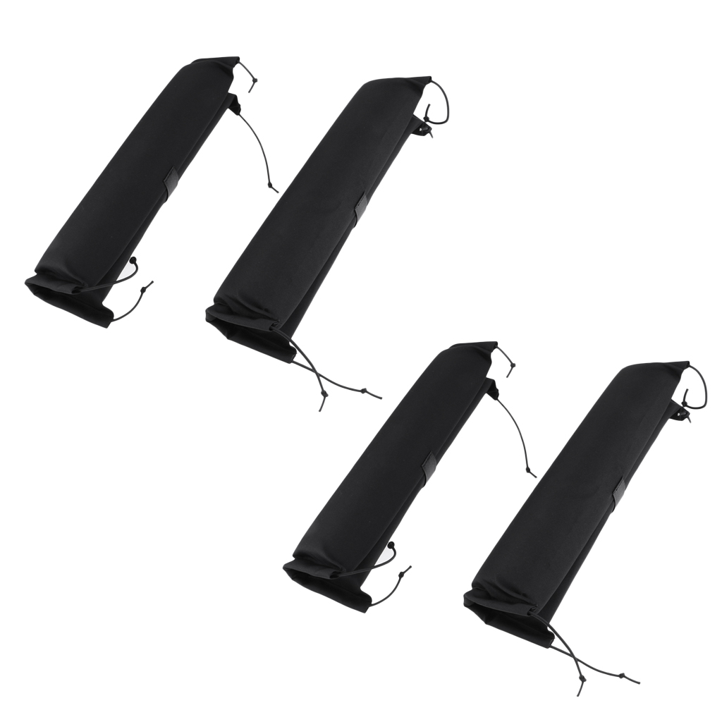 Lot 4 Car Roof Bar Rack Pads For Kayak Canoe Surf Paddle Board SUP Snowboard Water Sports Surfing Accessories