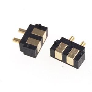 Image 5 - 50 шт. пружинный разъем Pogo pin, 2 контактный прямоугольный поверхностный монтаж SMD полоса, штекер, гнездо, вогнутый SMT шаг 2,5 мм