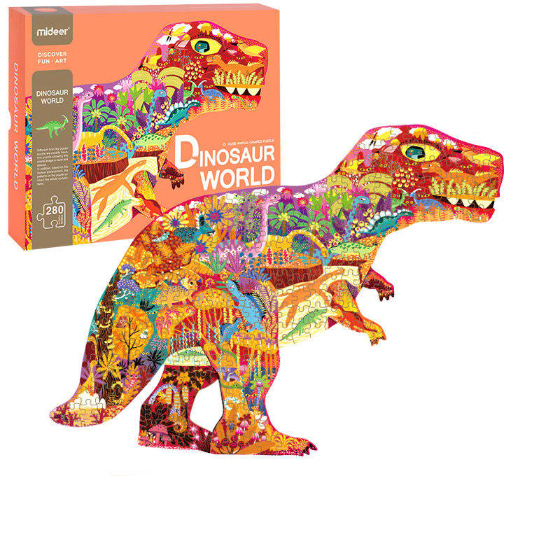 280 Pcs Jigsaw Paper 3D Puzzle Children's Intelligence Dinosaur Puzzle Early Education Toys For Children Adult Gift