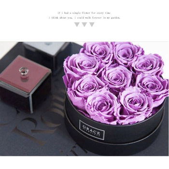 Korean Round Cardboard Flower Boxes with Lid Rose Bucket Florist Gifts Packaging Box Flowers Arrangement Home Decor Wedding Deco