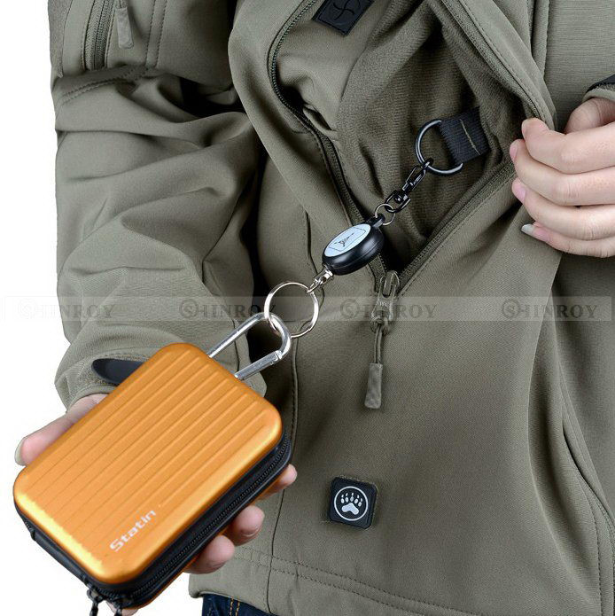 Steel Rope Burglar Keychain Tactical Retractable Key Chain Camping Key Ring  EDC Outdoor