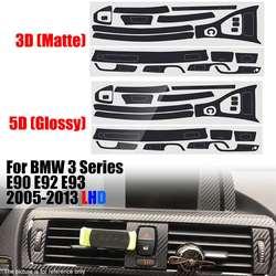 RHD/LHD błyszczący wnętrza z włókna węglowego naklejki winylu konsoli środkowej wykończenia dla BMW serii 3 E90 E92 E93 2005  2013 C podstawa typu w Naklejki samochodowe od Samochody i motocykle na
