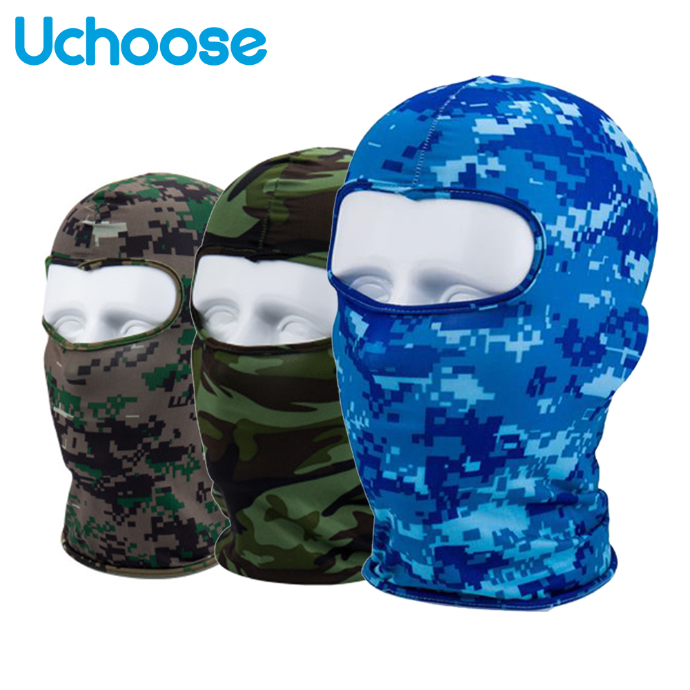 Camouflage Tactical Military Balaclava Full Face Mask Motorcycle Outdoor Moto Head Face Masks Shield Cycling Neck Winter Hat