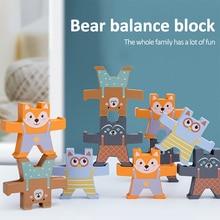 Baby Toys Stacking Balance Wooden Blocks Educational-Toys Montessori Building Rainbow