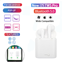 New i7s Tws Wireless Bluetooth Earphones Mini Stereo Bass  Earbuds Sport Headset with Charging Box for iPhone Xiaomi Huawei ogv tws bluetooth v5 0 eaphone earbuds sports stereo music headset headphoe white mic charging box for apple iphone xiaomi