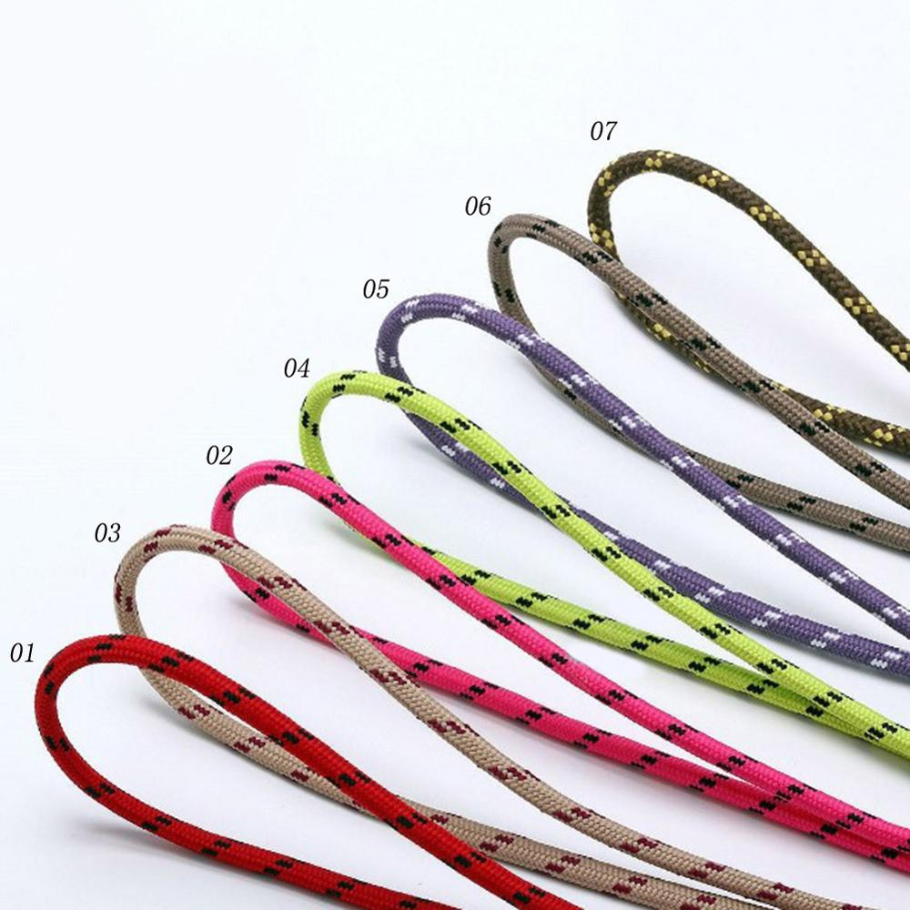 1Pair Top Quality Shoe Laces Round Sneakers Shoelaces Dot Boots Shoelace 7 Colors 80 100 120 Cm Laces Shoestring