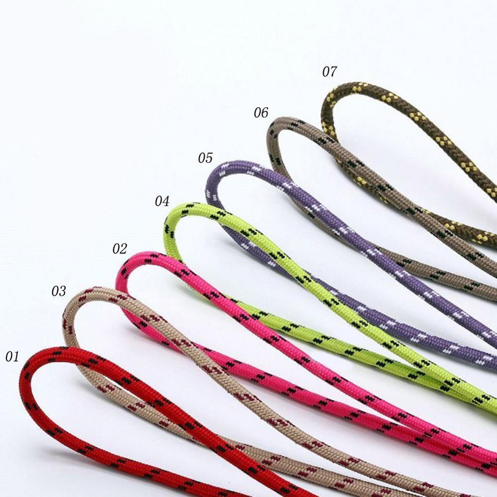 1Pair Top Quality Shoe Laces Round Sneakers Shoelaces Dot Boots Shoelace 7 Colors 80 100 120 Cm Laces Shoestring