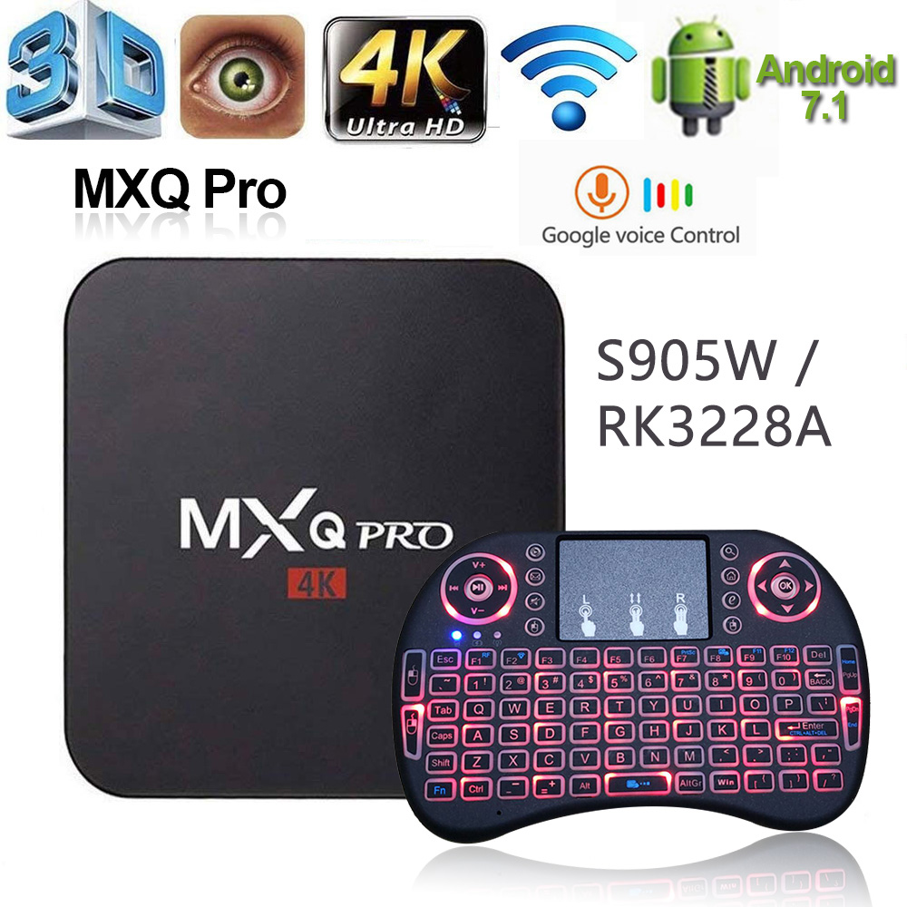 Android TV Box MXQ PRO 4K RK3228 Amlogic S905W 2G16G HD 3D 2,4G WIFI 2,4G 2020 TVBox google Spielen Youtub Media Player Set-Top-Box