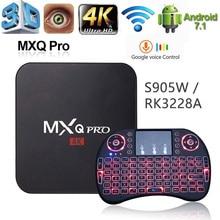 Set-Top-Box Media-Player WIFI Android Mxq Pro Amlogic S905w Youtub RK3228 2G16G HD 4K