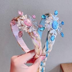 New Girls Cute Princess Crown Tiaras Headband Children Sweet Hair Ornament Selfie Props Hairbands Kids Fashion Hair Accessories