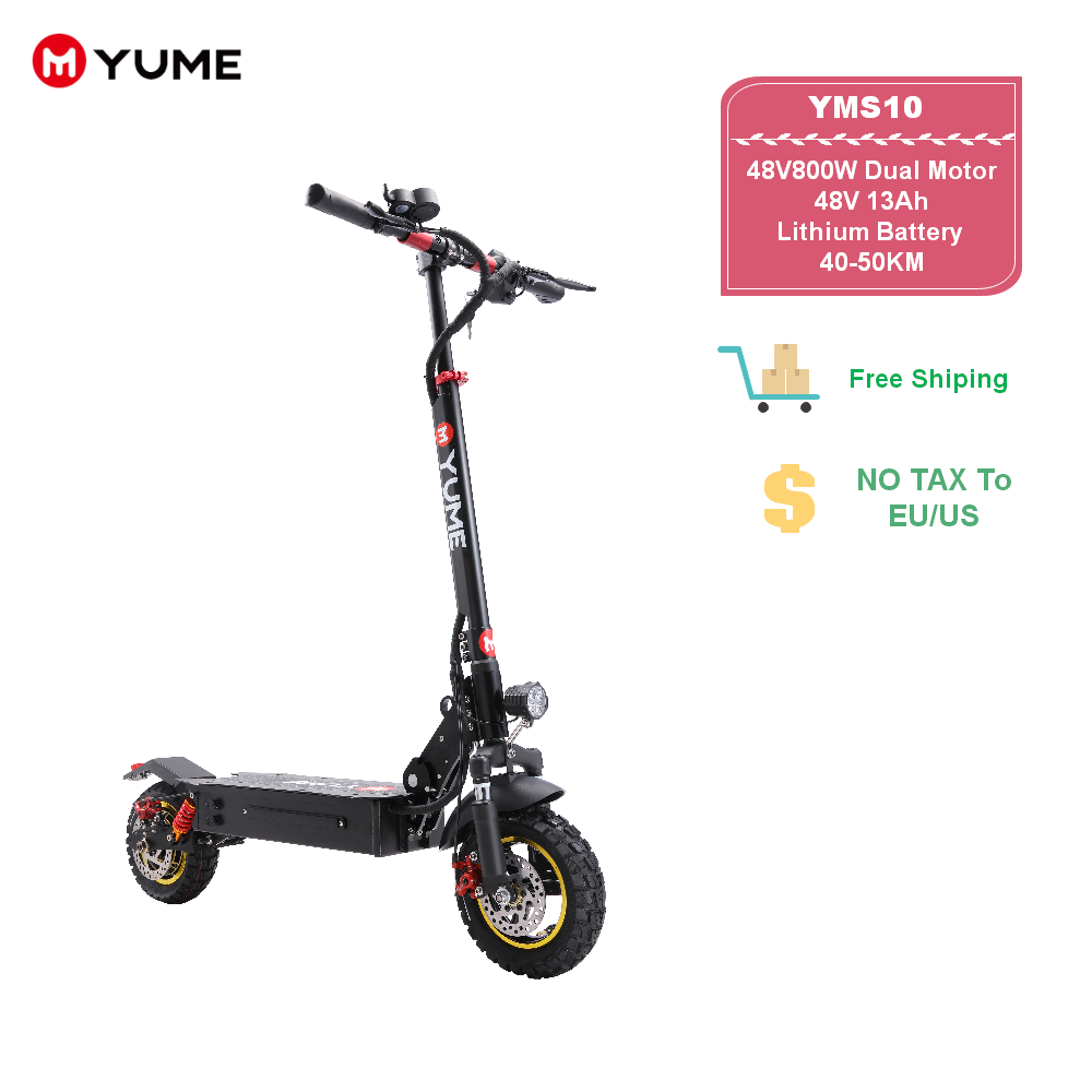 YUME S10 2020 New Arriv Electric foldable 48v 800w single motor powerful Adult Electric <font><b>Scooter</b></font> image