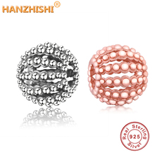 925 Sterling Silver Openwork DIY Charms Beads Fit Original Pandora Charm Bracelet Necklace Women Jewelry Making  berloque geoki 925 sterling silver treasure lock charms fit original pandora bracelet lucky pendant necklace beads jewelry making women