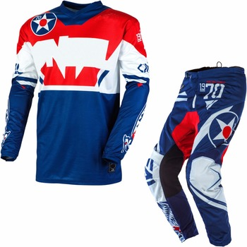 2020 The New One!Automotive MTB Bike Off-road Motorcycle Gear Set Scooter Suit Blue White