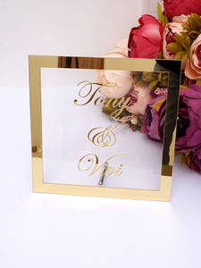 Sign-Plate Name-Mirror-Frame Nail-Party-Decor-Favors Bride Wedding-Signage Acrylic Custom