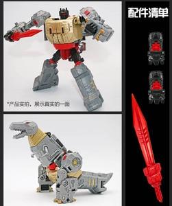 Image 4 - BMB dönüşüm Dinoking Volcanicus Grimlock cüruf çamur Snarl Swoop slash Dinobots 5IN1 alaşımlı aksiyon figürü Robot oyuncaklar