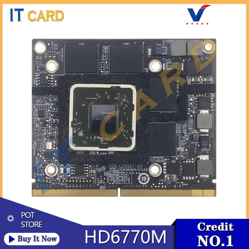 Original Radeon HD6770 HD6770M 512MB 216-0811000 Video Graphics Card 109-C29557-00 For Apple IMac 27