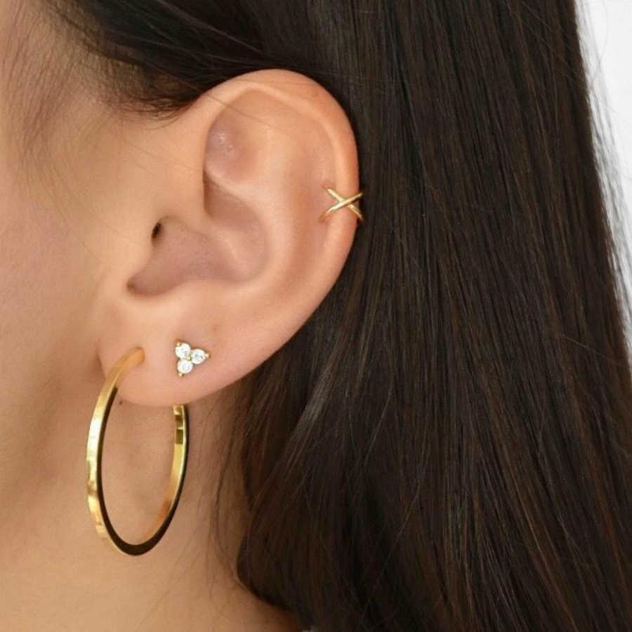 חדש עגילי תכשיטים גותי מעגל עגילי שילוב סט Oorbellen סיטונאי מעצב עגילי עבור נשים יוקרה