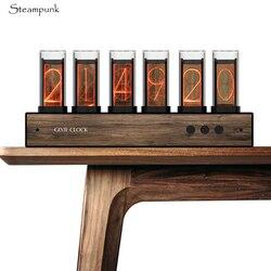 High quality Gixie Glow light analog Tube Clock Retro LED Color change Clock Change Creative Home Clock