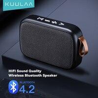 KUULAA-minialtavoz Bluetooth, reproductor de música inalámbrico portátil con sonido estéreo 3D envolvente, para exteriores, compatibilidad con FM y tarjeta TF