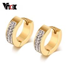 Promotion price mini design with stone 18k gold plated earring women jewelry hoop earrings for women bling earrings недорого