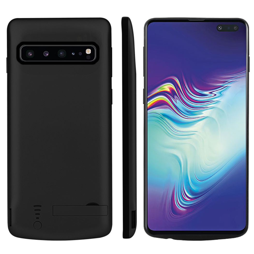 for Samsung Galaxy S10 5G Battery Charger Case 5000mAh Extended Battery Protector with Bracket for Samsung S10 5G Case Battery in Battery Charger Cases from Cellphones Telecommunications