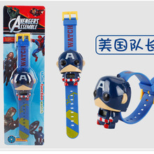 Marvel Avengers Kids Toy Watch Captain America Hulk Iron Man Anime Electronic Watch Spider Man Homecoming Cosplay Toys
