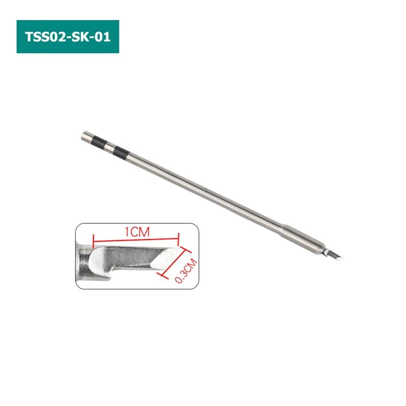 TSS02 Solder Tips for QUICK TS1200A Lead-free Soldering Station TSS02-SK TSS02-K TSS02-3C TSS02-I TSS02-J TSS02-1C TSS02-2C 4