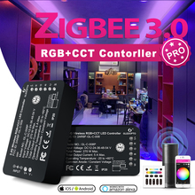 GLEDOPTO Zigbee 3 0 Smart LED Strip Controller RGBCCT Pro Compatible with Hue SmartThings App 2 4G RF Remote Control Voice cheap CN(Origin) APP control Voice control remote control GL-C-008P RGB Controler 2 years ROHS 50-60HZ 12-24V Pro RGBCCT Strip Controller