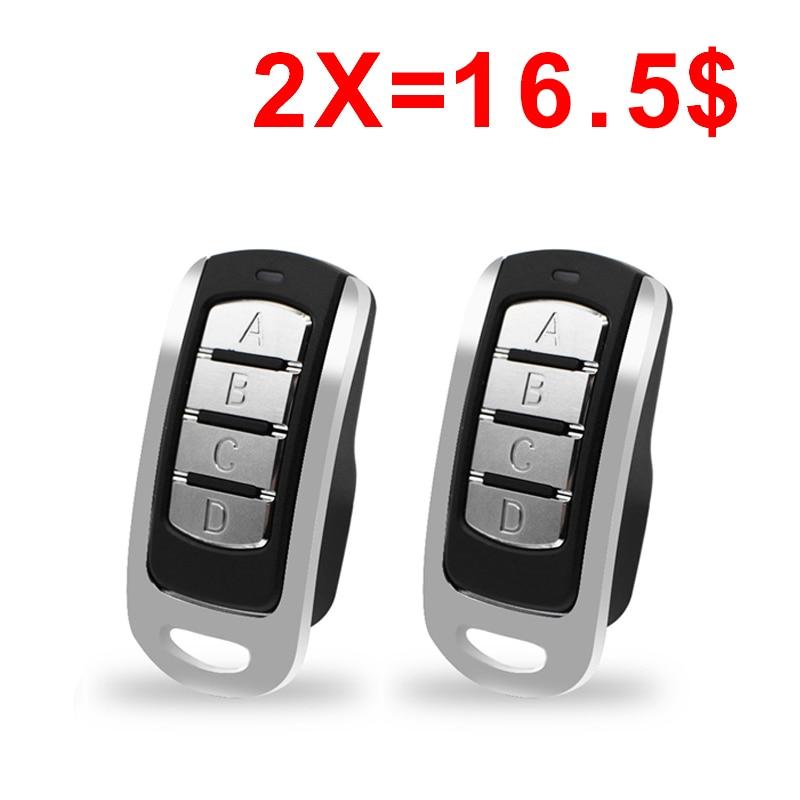 2pcs Remote Control Multi Frequency Duplicate 300-900mhz 4 Channel Command Handzender Garage Door Opener Gate Key Fob