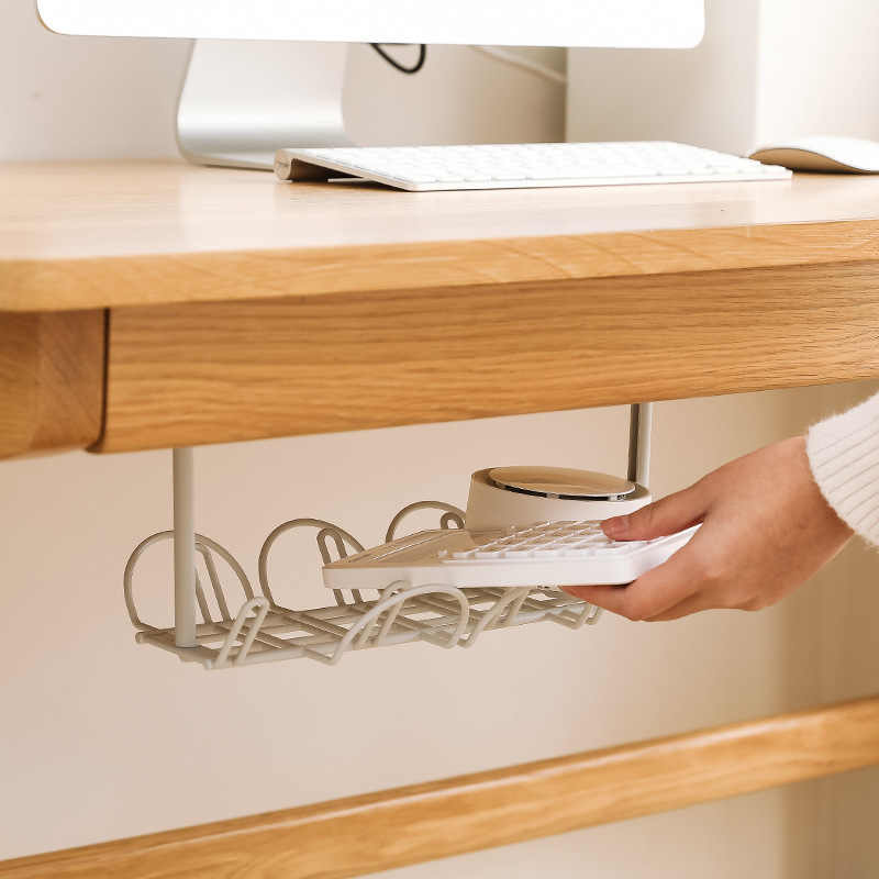 Under Desk Cable Management Tray Wire Cord Power Strip