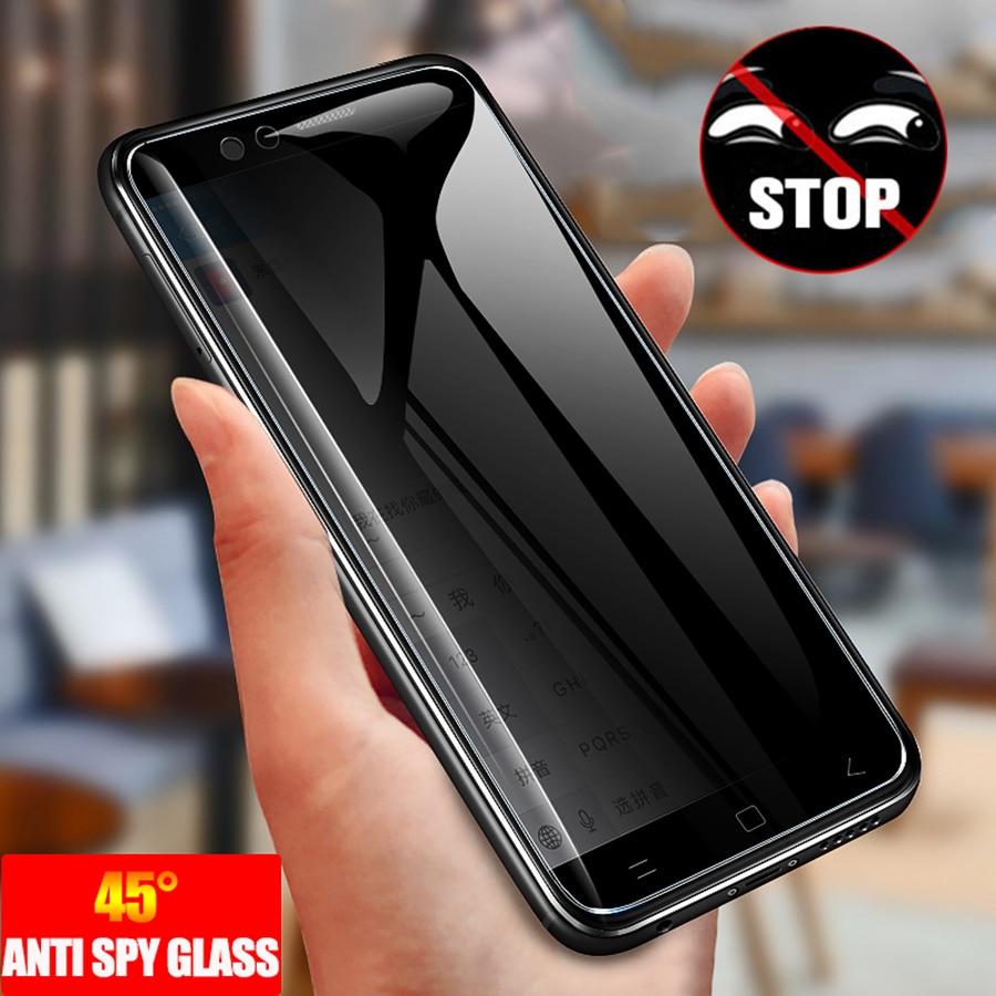 Анти-шпион закаленное стекло для Samsung Galaxy Note 20 S21 ультра S20 Примечание 10 плюс A51 A71 полной защиты конфиденциальности Защитная пленка для экран...