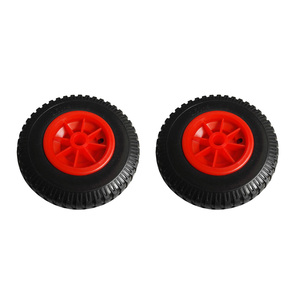 Image 3 - 2 Pieces/ Set 10 0.88 Durable Puncture Proof Rubber Tyre on Red Wheel for Kayak Trolley Cart Boat Trailer Kayak Cart Wheel