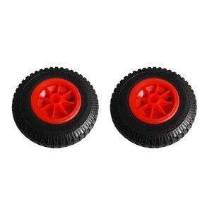 Image 3 - 2 teile/los 10 0,88 Langlebig Pannensichere Gummi Reifen auf Rot Rad für Kajak Trolley Warenkorb Boot Anhänger kajak Warenkorb Rad