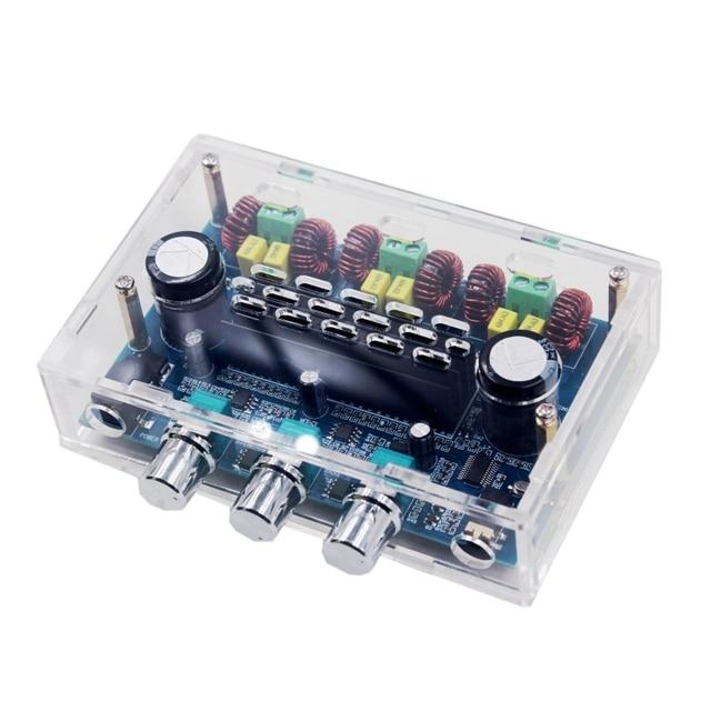 Avec boîtier TPA3116D2 2.1 canaux Audio basse Subwoofer ampli Bluetooth 5.0 stéréo numérique amplificateur de puissance carte 50Wx2 + 100W XH A305