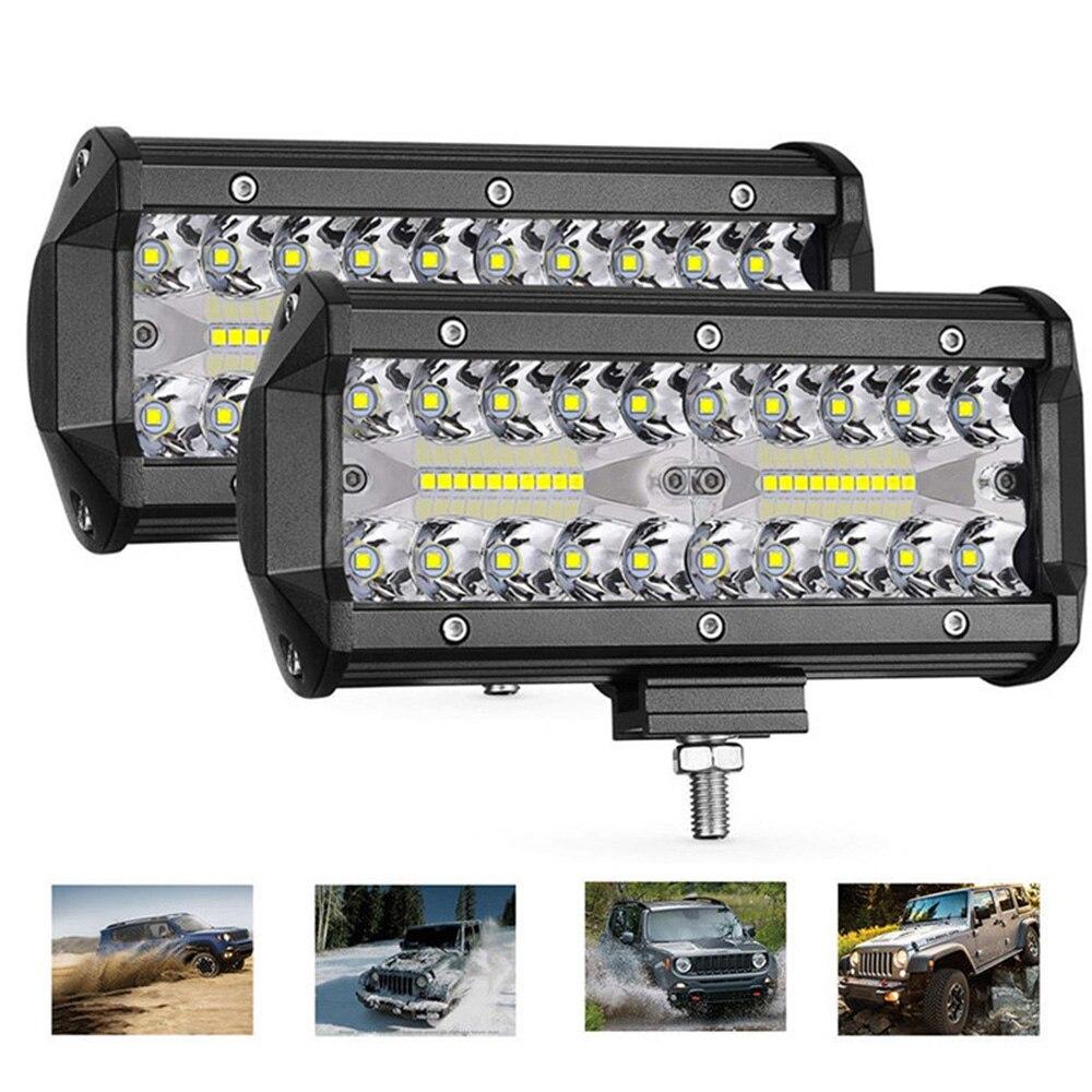 7 Inch LED Bar LED Light Bar 3 Rows Work Light Combo Beam For Driving Offroad Boat Car Tractor Truck UTV ATV SUV 4x4 SUV 12V 24V