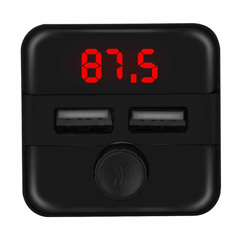 Car FM Transmitter Wireless audio player  bluetooth  dual ports Radio Adapter USB Charger Mp3 Player  ##0