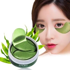 Image 1 - 60pcs Eye Mask Gel Seaweed Collagen Eye Patches Under the Eye Bags Dark Circles Removal Moisturizing Eyes Pads Masks Skin Care