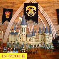 Em estoque h warts castelo 16060 potter escola mágica modelo blocos de construção tijolos 6020 peças compatíveis 71043 filme crianças brinquedos