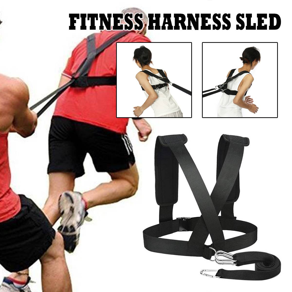 Resistance Bands Strength Speed Training Strap Sled Harness Workout Pull Band Belt Fitness Equipment Sport Gym Exercise