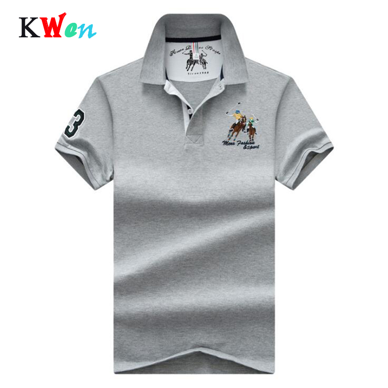 New Summer casual Mens cotton plus size 4XL   Polo   Shirt Men Horse Embroidery slim fit   polo   breath male soft cool lapel   polo   shirt